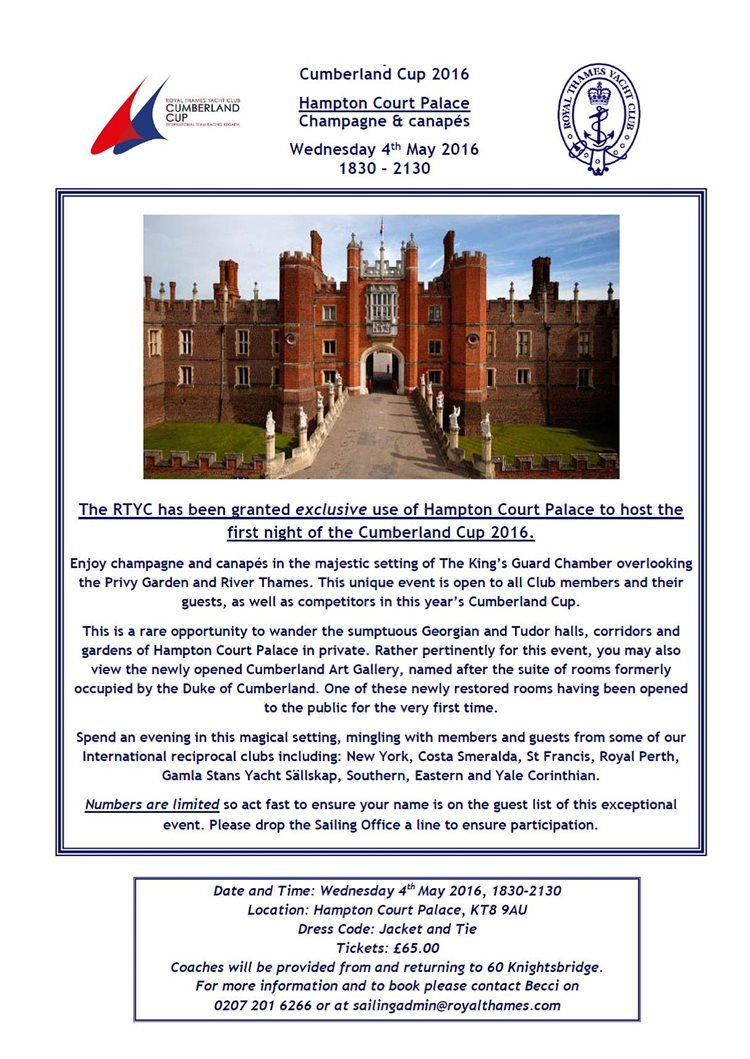 Hampton Court Palace Event Flyer